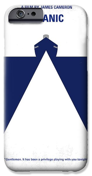 Action iPhone Cases - No100 My Titanic minimal movie poster iPhone Case by Chungkong Art