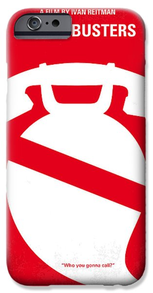 Spirits iPhone Cases - No104 My Ghostbusters minimal movie poster iPhone Case by Chungkong Art