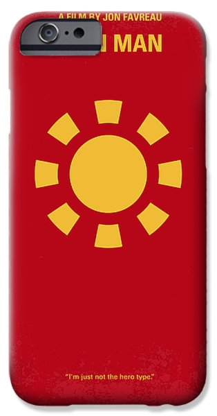 Iron iPhone Cases - No113 My Iron man minimal movie poster iPhone Case by Chungkong Art