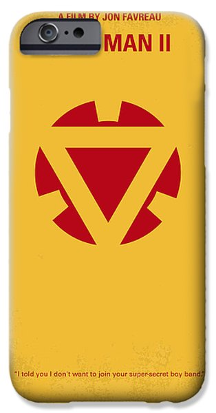 Iron iPhone Cases - No113 My Iron man minimal movie posterNo113-2 My Iron man 2 minimal movie poster iPhone Case by Chungkong Art