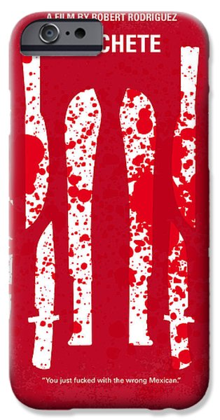 Michelle iPhone Cases - No114 My Machete minimal movie poster iPhone Case by Chungkong Art