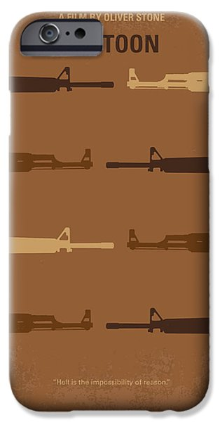Oliver Stone iPhone Cases - No115 My Platoon minimal movie poster iPhone Case by Chungkong Art
