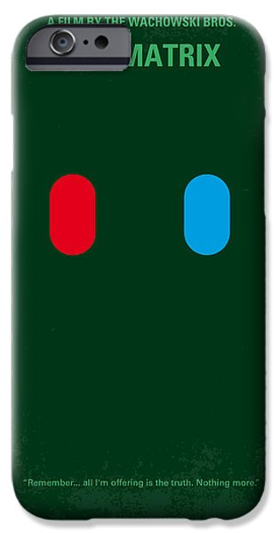 Computers iPhone Cases - No117 My MATRIX minimal movie poster iPhone Case by Chungkong Art