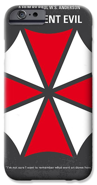No119 My RESIDENT EVIL minimal movie poster iPhone Case by Chungkong Art
