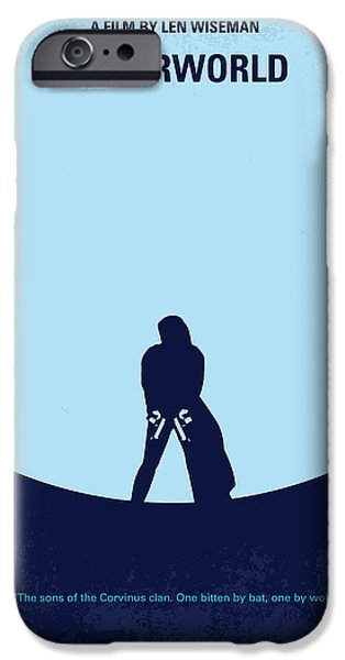 No122 My UNDERWORLD minimal movie iPhone Case by Chungkong Art
