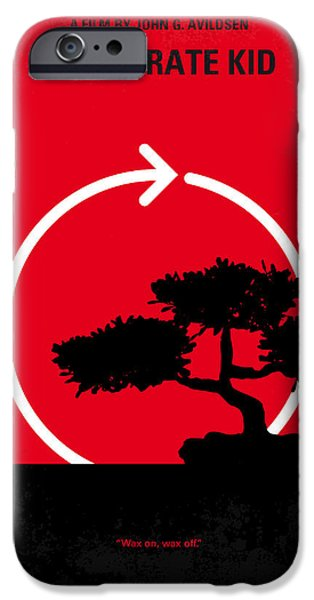 Kids Room Art iPhone Cases - No125 My KARATE KID minimal movie poster iPhone Case by Chungkong Art