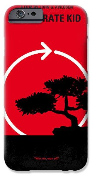 No125 My KARATE KID minimal movie poster iPhone Case by Chungkong Art