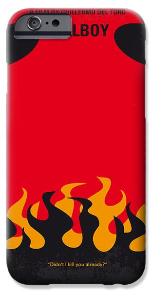Drama iPhone Cases - No131 My HELLBOY minimal movie poster iPhone Case by Chungkong Art
