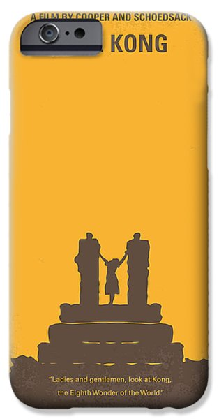 Graphic Design iPhone Cases - No133 My KING KONG minimal movie poster iPhone Case by Chungkong Art