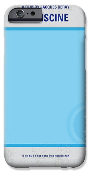 Vacation Digital iPhone Cases - No137 My La piscine minimal movie poster iPhone Case by Chungkong Art