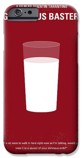 No138 My Inglourious Basterds minimal movie poster iPhone Case by Chungkong Art