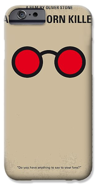 Oliver Stone iPhone Cases - No139 My Natural Born Killers minimal movie poster iPhone Case by Chungkong Art
