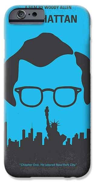 No146 My Manhattan minimal movie poster iPhone Case by Chungkong Art