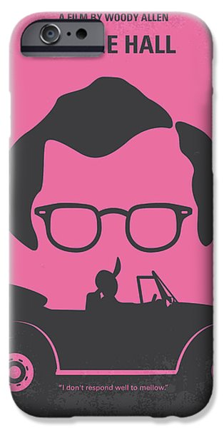 Drama Digital iPhone Cases - No147 My Annie Hall minimal movie poster iPhone Case by Chungkong Art