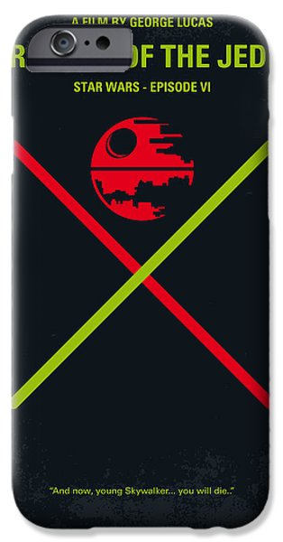 No156 My STAR WARS Episode VI Return of the Jedi minimal movie poster iPhone Case by Chungkong Art