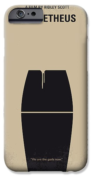 Drama iPhone Cases - No157 My Prometheus minimal movie poster iPhone Case by Chungkong Art