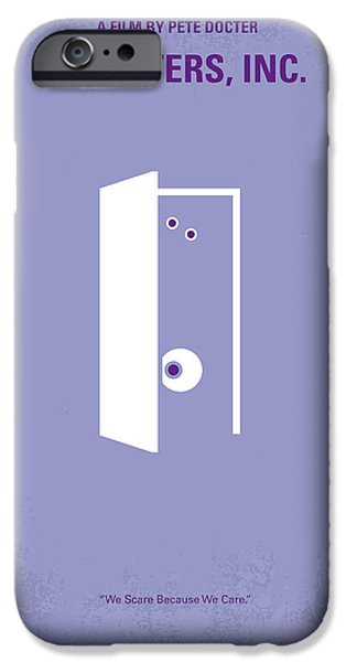 No161 My Monster Inc minimal movie poster iPhone Case by Chungkong Art
