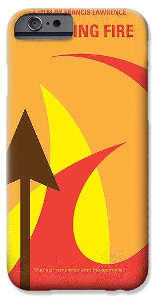Fight Digital iPhone Cases - No175-2 My CATCHING FIRE - The Hunger Games minimal movie poster iPhone Case by Chungkong Art