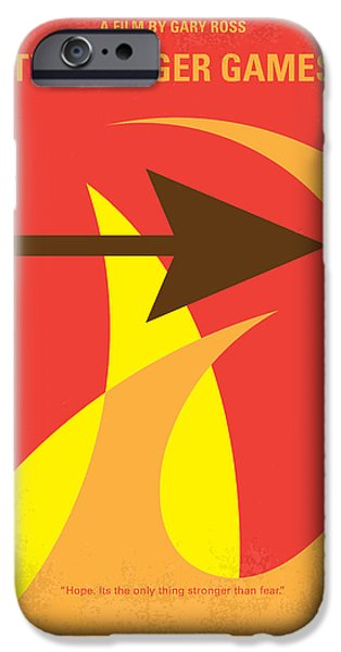 Fight Digital iPhone Cases - No175 My Hunger Games minimal movie poster iPhone Case by Chungkong Art