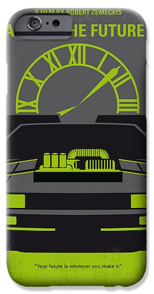 The Gift iPhone Cases - No183 My Back to the Future minimal movie poster-part III iPhone Case by Chungkong Art