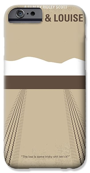 No189 My Thelma and Louise minimal movie poster iPhone Case by Chungkong Art