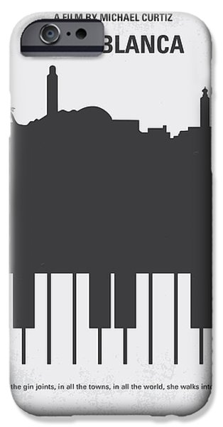 Retro iPhone Cases - No192 My Casablanca minimal movie poster iPhone Case by Chungkong Art