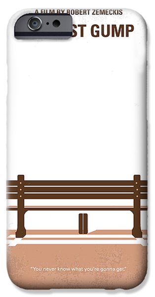 Retro iPhone Cases - No193 My Forrest Gump minimal movie poster iPhone Case by Chungkong Art