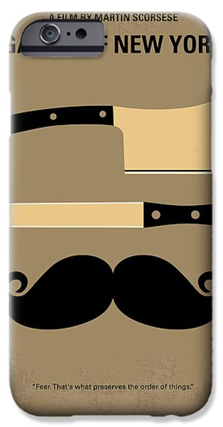 No195 My Gangs of New York minimal movie poster iPhone Case by Chungkong Art