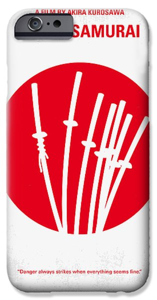 Design iPhone Cases - No200 My The Seven Samurai minimal movie poster iPhone Case by Chungkong Art