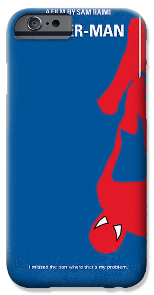 No201 My Spiderman minimal movie poster iPhone Case by Chungkong Art