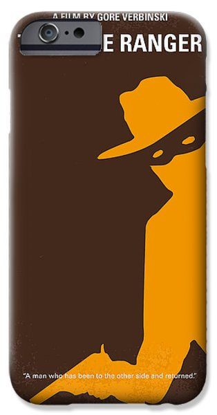 Native American Art iPhone Cases - No202 My The Lone Ranger minimal movie poster iPhone Case by Chungkong Art