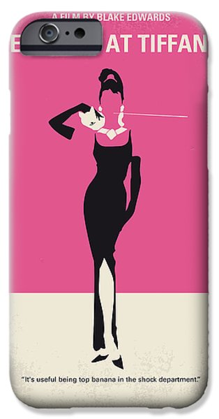 Retro iPhone Cases - No204 My Breakfast at Tiffanys minimal movie poster iPhone Case by Chungkong Art