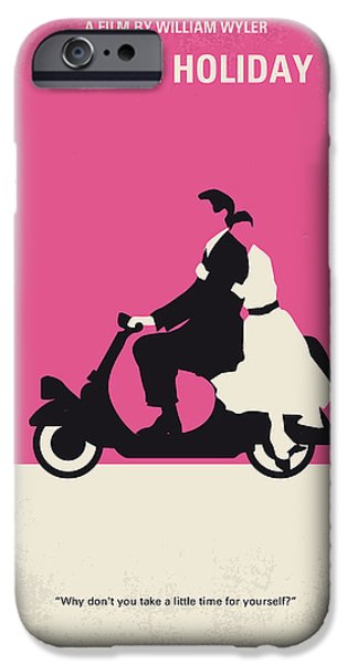 No205 My Roman Holiday minimal movie poster iPhone Case by Chungkong Art