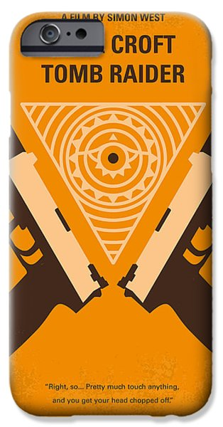Tombs iPhone Cases - No209 Lara Croft Tomb Raider minimal movie poster iPhone Case by Chungkong Art