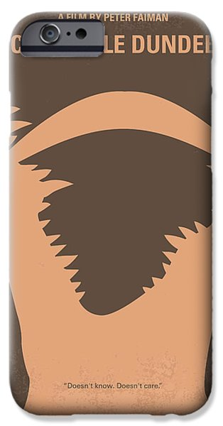 Hunter iPhone Cases - No210 My Crocodile Dundee minimal movie poster iPhone Case by Chungkong Art