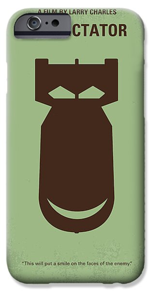 Weapon Digital iPhone Cases - No212 My The Dictator minimal movie poster iPhone Case by Chungkong Art