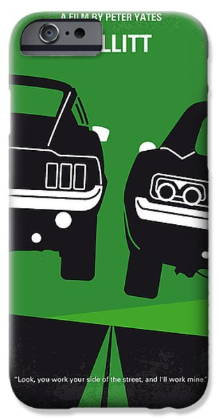 Police Art iPhone Cases - No214 My BULLITT minimal movie poster iPhone Case by Chungkong Art