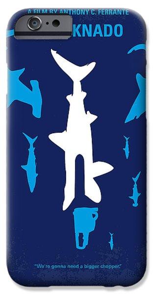 No216 My Sharknado minimal movie poster iPhone Case by Chungkong Art