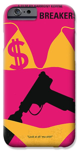 Money iPhone Cases - No218 My SPRING BREAKERS minimal movie poster iPhone Case by Chungkong Art