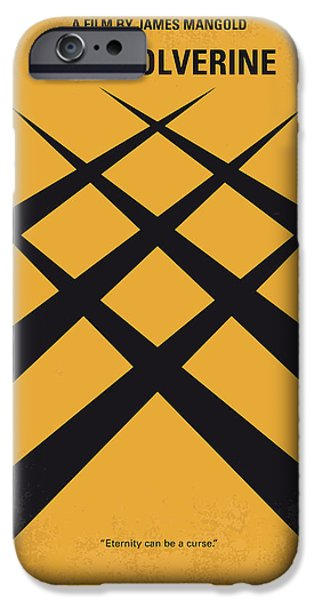 X-men iPhone Cases - No222 My Wolverine minimal movie poster iPhone Case by Chungkong Art