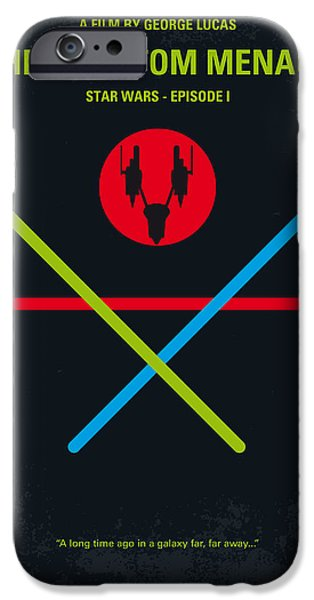 Graphic Design iPhone Cases - No223 My STAR WARS Episode I The PHANTOM MENACE minimal movie poster iPhone Case by Chungkong Art