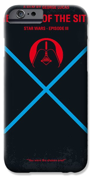 Falcon iPhone Cases - No225 My STAR WARS Episode III REVENGE OF THE SITH minimal movie poster iPhone Case by Chungkong Art