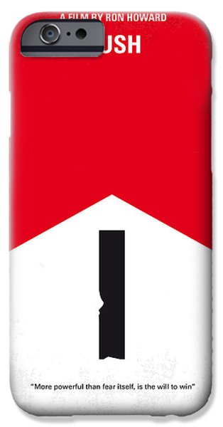 Formula One iPhone Cases - No228 My Rush minimal movie poster iPhone Case by Chungkong Art