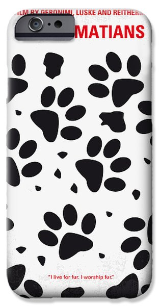 Pup iPhone Cases - No229 My 101 Dalmatians minimal movie poster iPhone Case by Chungkong Art