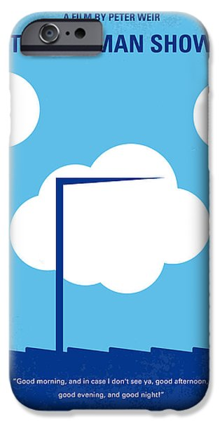 Camera iPhone Cases - No234 My Truman show minimal movie poster iPhone Case by Chungkong Art