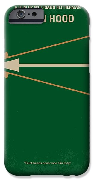 Sheriff iPhone Cases - No237 My Robin Hood minimal movie poster iPhone Case by Chungkong Art