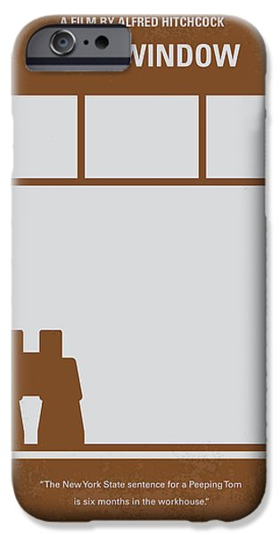 Murder iPhone Cases - No238 My Rear window minimal movie poster iPhone Case by Chungkong Art
