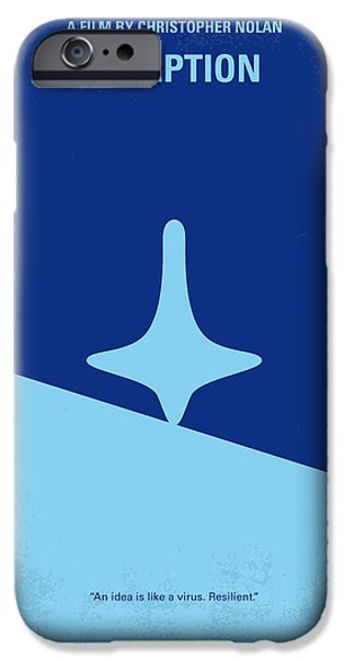 Retro iPhone Cases - No240 My Inception minimal movie poster iPhone Case by Chungkong Art
