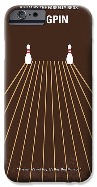 Bowling iPhone Cases - No244 My KINGPIN minimal movie poster iPhone Case by Chungkong Art