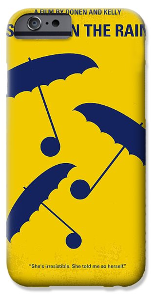 Rain iPhone Cases - No254 My SINGIN IN THE RAIN minimal movie poster iPhone Case by Chungkong Art